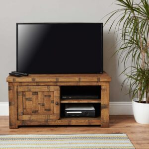 Heyford Rough Sawn Oak One Door Television Cabinet - LM Furnishings