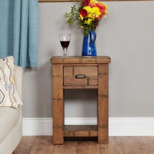 Heyford Rough Sawn Oak Lamp Table - LM Furnishings