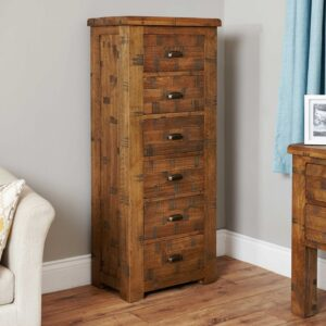 Heyford Rough Sawn Oak Tallboy (6 Drawer) - LM Furnishings