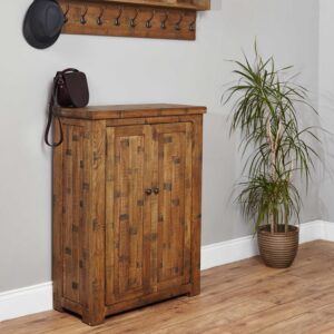 Heyford Rough Sawn Oak Shoe Cupboard - LM Furnishings