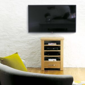 Aston Oak Home Entertainment Cabinet - LM Furnishings