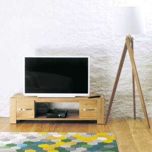 Aston Oak Widescreen Television Cabinet - LM Furnishings