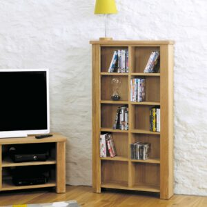 Aston Oak DVD/CD Storage Unit - LM Furnishings