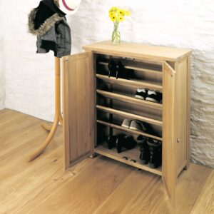 Aston Oak Shoe Cupboard - LM Furnishings