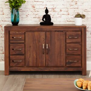 Mayan Walnut Six Drawer Sideboard - LM Furnishings