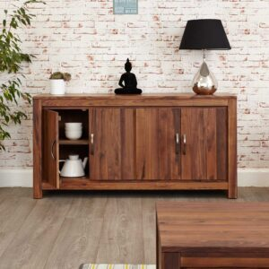 Mayan Walnut Large Low Sideboard - LM Furnishings