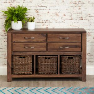 Mayan Walnut Console Table - LM Furnishings