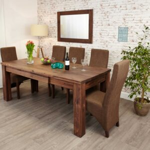 Mayan Walnut Extending Dining Table - LM Furnishings