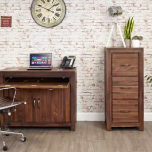 Mayan Walnut Hidden Home Office - LM Furnishings