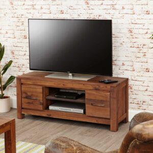 Mayan Walnut Low Widescreen Television Cabinet - LM Furnishings