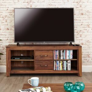 Mayan Walnut Widescreen Television Cabinet - LM Furnishings