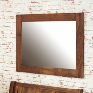 Mayan Walnut Medium Mirror - LM Furnishings