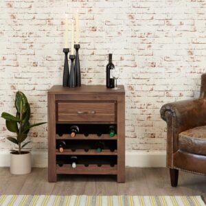 Mayan Wine Rack Lamp Table - LM Furnishings