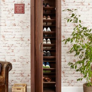 Mayan Walnut Extra Large Shoe Cupboard - LM Furnishings
