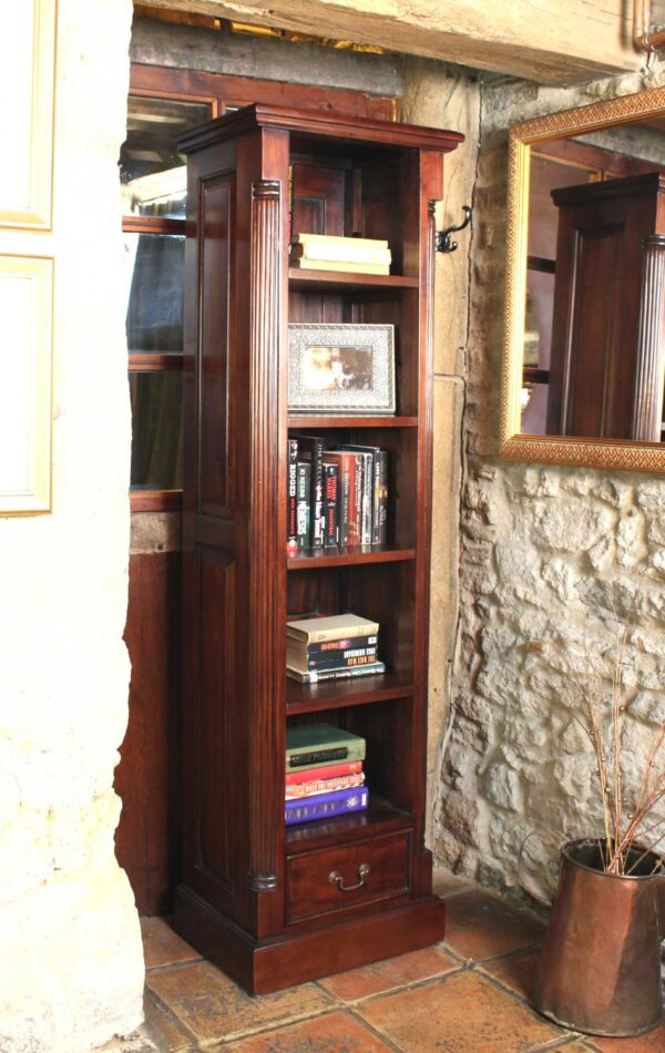 La Roque Narrow Alcove Bookcase - LM Furnishings