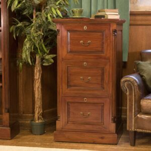 La Roque Three Drawer Filing Cabinet - LM Furnishings