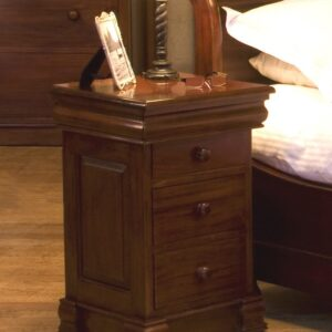 La Roque Mahogany Lit Bateau Lamp Table - 4 Drawers