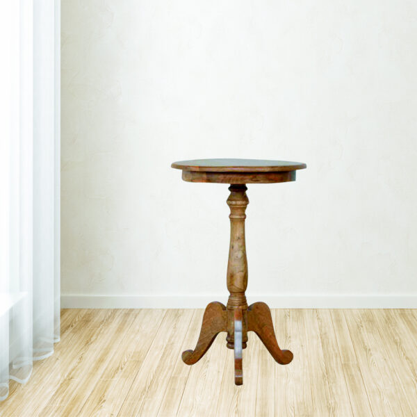 Solid Wood Round Tea Table - LM Furnishings