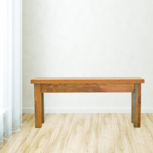 Solid Wood Oak-ish Finish Bench with Farmhouse Feet - LM Furnishings