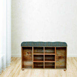 Shoe Cabinet with Upholstered Seat - LM Furnishings