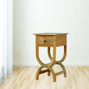 Solid Wood 1 Drawer Bedside Table - LM Furnishings