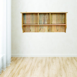 Solid Wood Wall Mounted Coat Rack - LM Furnishings
