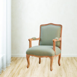 French Styled Upholstered Arm Chair - LM Furnishings