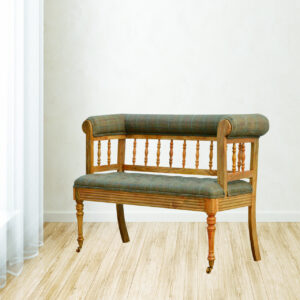 Hallway Bench With Casters - LM Furnishings
