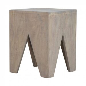Solid Wood Cut Out Stool - LM Furnishings