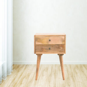 2 Drawer Solid Wood Bedside Table - LM Furnishings