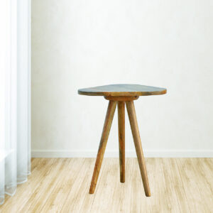 Accent Triangular Tripod Stool - LM Furnishings