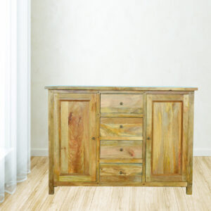 Country Style Sideboard with 2 Cabinets & 4 Drawers - LM Furnishings