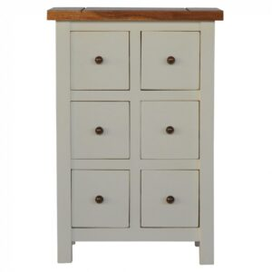 2 Toned Cabinet with 6 Drawers - LM Furnishings