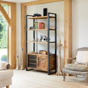 Urban Chic Large Bookcase with Storage - LM Furnishings