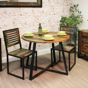 Urban Chic Round Dining Table (100cm x 100cm) - LM Furnishings