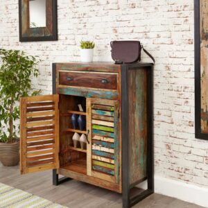 Urban Chic Shoe Storage Cupboard (with drawer) - LM Furnishings