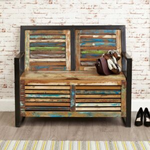 Urban Chic Storage Monks Bench (with shoe storage) - LM Furnishings