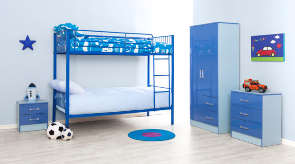 Blue Metal Bunk Bed - LM Furnishings