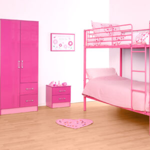 Pink Metal Bunk Bed - LM Furnishings