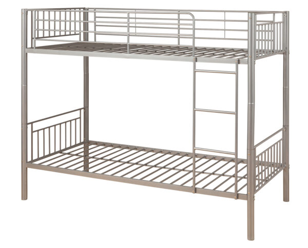 Silver Metal Bunk Bed - LM Furnishings