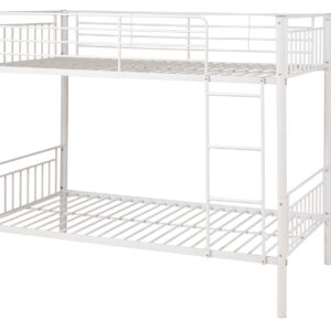 White Metal Bunk Bed - LM Furnishings