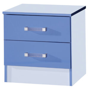Blue/Blue Bedside Cabinet - LM Furnishings