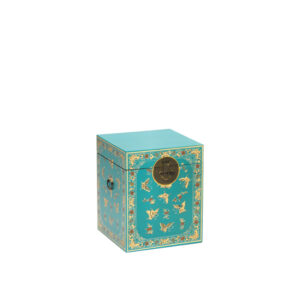 The Nine Schools Oriental Decorated Blue Trunk - LM Furnishings