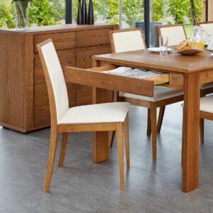 Olten - Cream Dining Chair in Oak Finish (Pack Of Two) - LM Furnishings