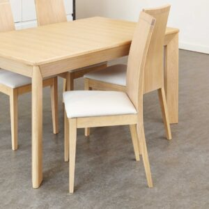 Olten Uno - Stone Dining Chair in Light Oak Finish (Pack Of Two) - LM Furnishings