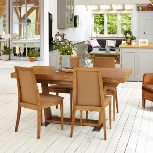 Olten - Extending Dining Table in Oak Finish - LM Furnishings
