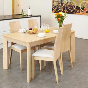 Olten Uno - Extending Dining Table in Light Oak Finish - LM Furnishings