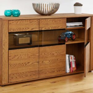 Olten - Large Glazed Sideboard - LM Furnishings