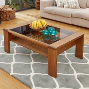 Olten - Glazed Coffee Table with Shelf - LM Furnishings