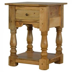 Country Style 1 Drawer Bedside Table with Shelf